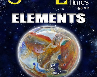July 2015 Soda Lime Times Lampworking Magazine - Elements - (PDF) - by Diane Woodall