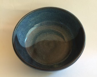 medium sized handmade blue bowl - ceramic mixing bowl-pottery serving bowl- handmade-  bowl- B84