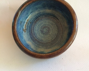 handmade stoneware ceramic pottery bowl great for everyday use, serving, ready to ship B108