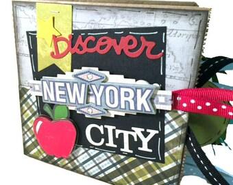 New York City Scrapbook - Big Apple Travel Paper Bag Album