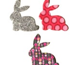 Easter Bunny ...Fabric Iron On Applique...Choose From 3 Designs
