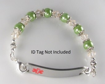 Medical ID Bracelet attachment only SPRING DUET for Your id Tag - replacement bracelet