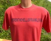 vintage tee shirt 80s where hell is FRANKLIN virginia fred's restaurant t-shirt Medium funny travel wtf