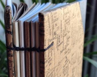 Handbound Toronto Journal: West End, Kraft Brown Coptic Notebook with Corner Edging, Hard Cover Toronto Neighbourhoods Journal