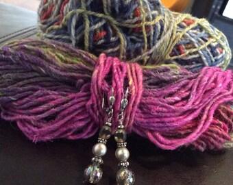 Handmade Earrings, Pearl Earrings, Crystal Earrings