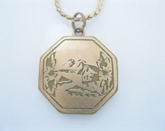Antique gold fill locket