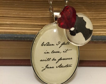 Jane Austen Sense & Sensibility inspired necklace