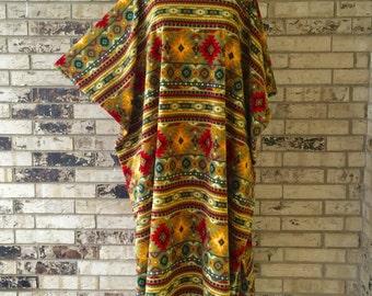 Extra Long Plus Size Fleece Caftan