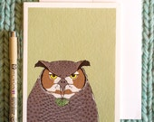 owl card: it's the thought that counts