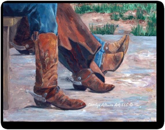 Western Art Print - Waitin at the Cook Shack.....canvas art print