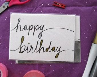 Happy Birthday - Handmade Greeting Card