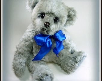 Hartman - Artist Teddy Bear, Handmade, OOAK, Stuffed Animal, 14 inches, Custom Teddys, Made in Alaska