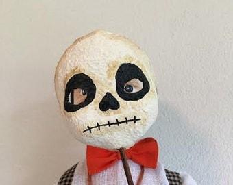 Boy with skeleton mask