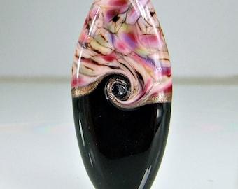 Black Pink Purple Lampwork Bead Set SRA Glass Beads