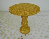 Gold Glitter mini wooden cupcake stand  for Christmas Weddings Birthdays