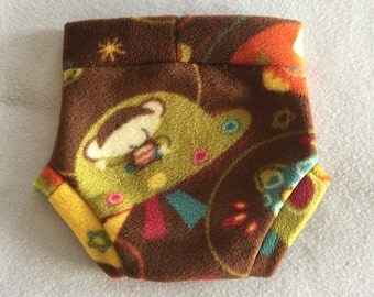 Size Large --- Space Monkey Anti Pill Fleece Diaper Cover (((ready to ship)))