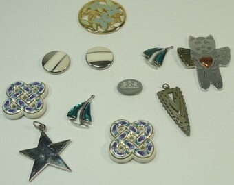 Assorted  Embelishments For Jewelry Making, Paper Crafting, Scrapbooking