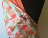 Baby Sling Baby Carrier - Gold and Peach Triangles