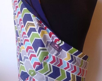 Baby Sling  Baby Carrier - Preppy Chevron Navy
