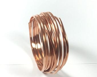 Half Round, big half round,  Copper wire, 10 ft of 8 gauge, great for rings, bangles wire