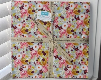 SALE 10 inch squares Stackers BITTERSWEET fabric by Riley Blake from Sue Daley Designs