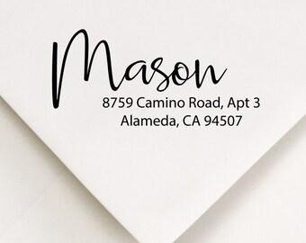 Return To Stamp, Address Stamp, Calligraphy Design, New Home Stamper, Personalized Address, DIY Addressing, Self Ink, Wedding Stationery