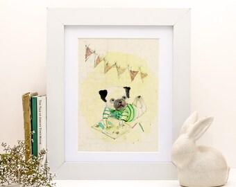 Eduardo IV - PRINT - 4x6 - Nursery art - Nursery decor - Kids room decor - Children's art - Children's wall art - kids wall art