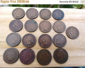 HUGE SALE 1900's Indian Head Penny Jeweler Artist Numismatic jewelry One Cent 1 Cent Money Coins  F-9