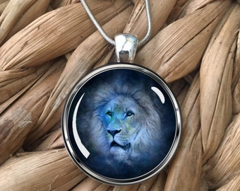 Leo the Lion Glass Pendant Necklace