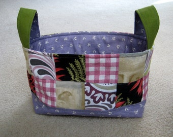 Rectangular Fabric Basket Organizer - roughly 9x5x6