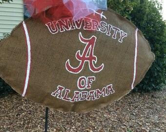 The University of Alabama Burlap Team Spirit Football Wreath!!!!!!!!!