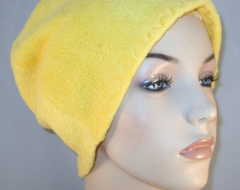 Goldenrod Anti Pill Fleece Hat, Winter Hat, Cancer, Chemo Hat, Alopecia