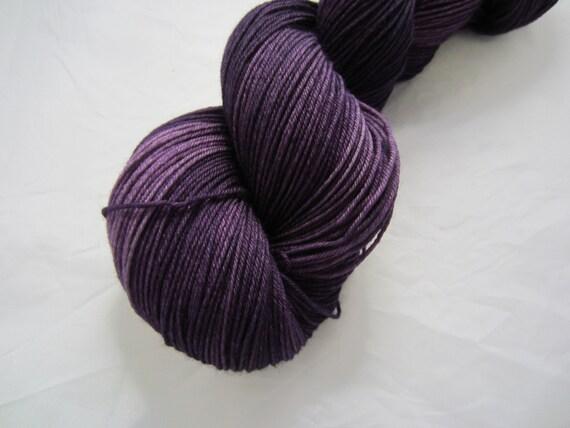 Dark Purple - Dyed to Order - Hand Dyed - Merino Wool Yarn - Fingering Weight