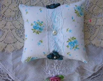 Pin Cushion Pillow, Pearl, Sewing Supplies, Needles,Pins, Handmade