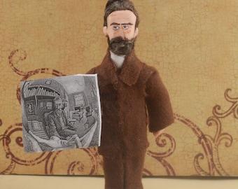 M.C. Escher Doll Miniature Artist Collectible Unique Collectible Character