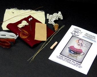 "Artful Gathering Class Kit for making ""Miss Mousie"" Pin Keep"