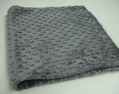 Charcoal Gray Double Sided Minky Burp Cloth 13 X 25 READY TO SHIP