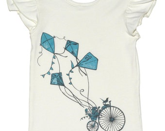 SAMPLE SALE -  Magpie T-shirt in Barefoot in the Park - Size 12 months... with a charming screenprint and a hidden message :)
