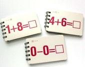 Trio of Vintage Math Flashcard Sketchbooks