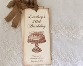 Birthday Favors Happy Birthday Bookmarks Cake and Candles for Adults