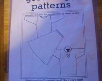 Designer Pull Overs and 3-gored Skirt #115 Women's  Sewing Pattern