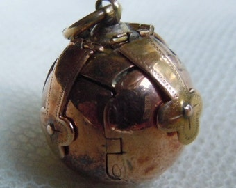 Antique Edwardian 9 ct. Rose Gold Masonic Ball, Orb