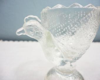 Vintage Hen Designed Glass Egg Cup