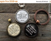 ON SALE CUSTOM Quotes: Glass Dome Pendant, Necklace, or Key Ring, Keychain personalized jewelry. Your text, mom wife husband faith memory lo
