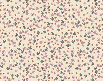 25% OFF Zombie Love Floral Cream - 1/2 Yard