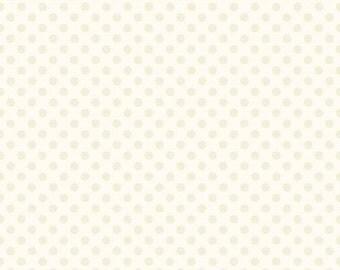 20% OFF Cream Small Dots on Cream  - 1/2 Yard