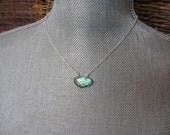 Labradorite Pendant Necklace, Blue, Blue Green, Aqua, Sterling Silver, Modern, Minimalist, Irisjewelrydesign