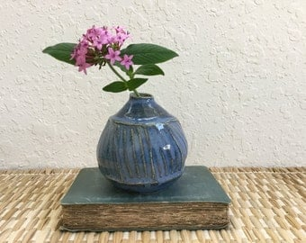 Modern Ceramic Bud Vase - Stoneware Wheelthrown Pottery