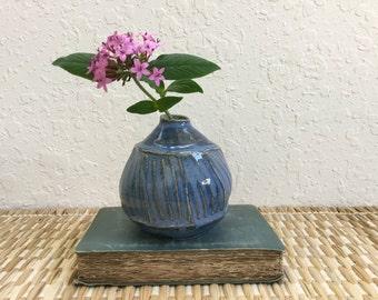Ceramic Bud Vase - Stoneware - Wheel Thrown Pottery - Pottery Bud Vase