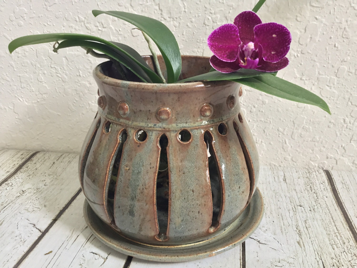 Handcrafted Ceramic Orchid Pot Orchid Planter Pot Wheel
